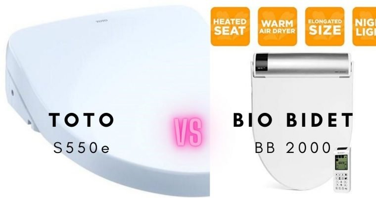 Toto S550e Washlet vs Bio Bidet BB 2000 Comparisons